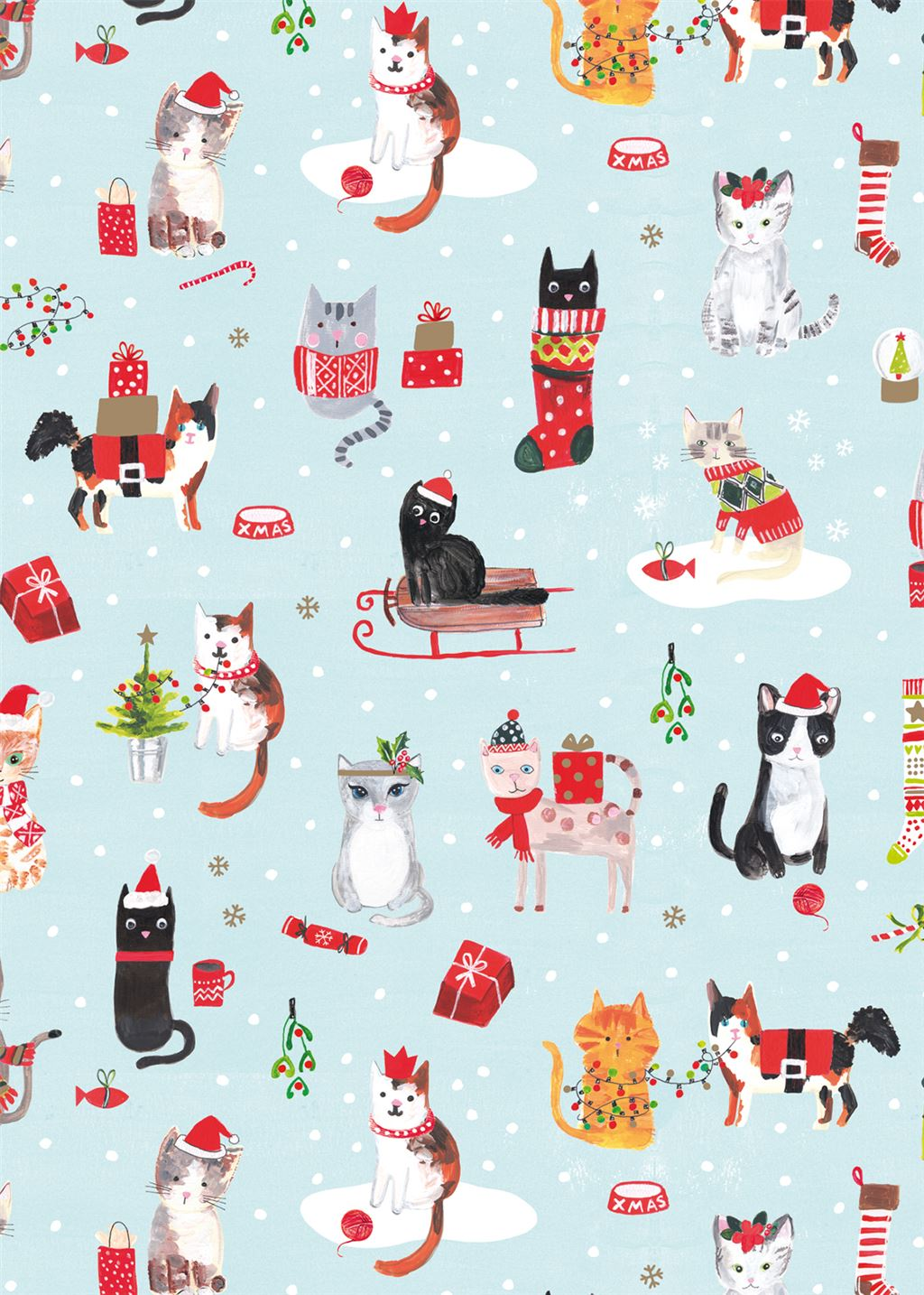 Festive Cats Christmas Wrapping Paper