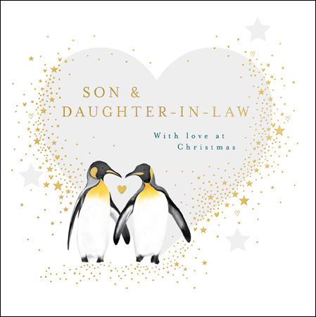 Penguins Son and Daughter in Law Christmas Card