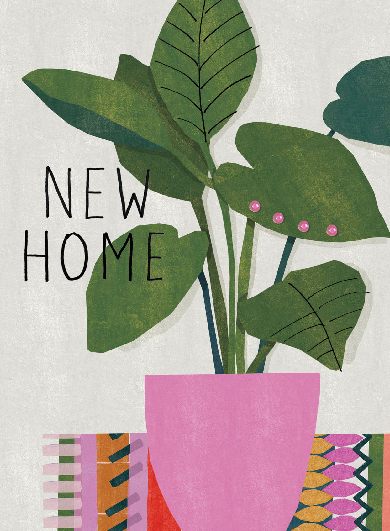 Plant Pot New Home Card