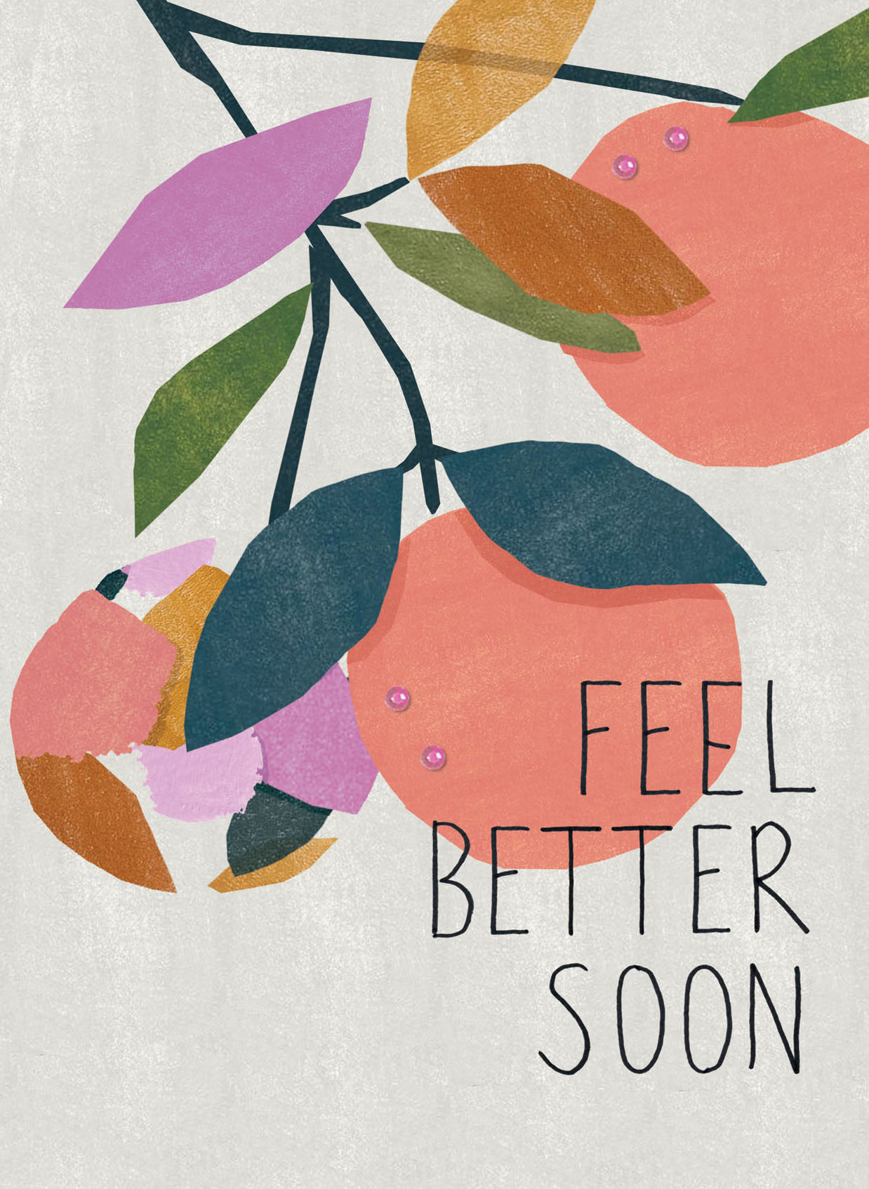 Fruit Tree Get Well Soon Card