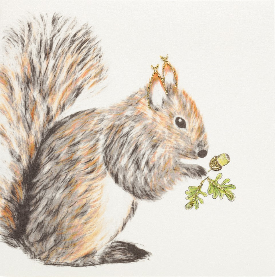 Squirrel and Acorn Greeting Card