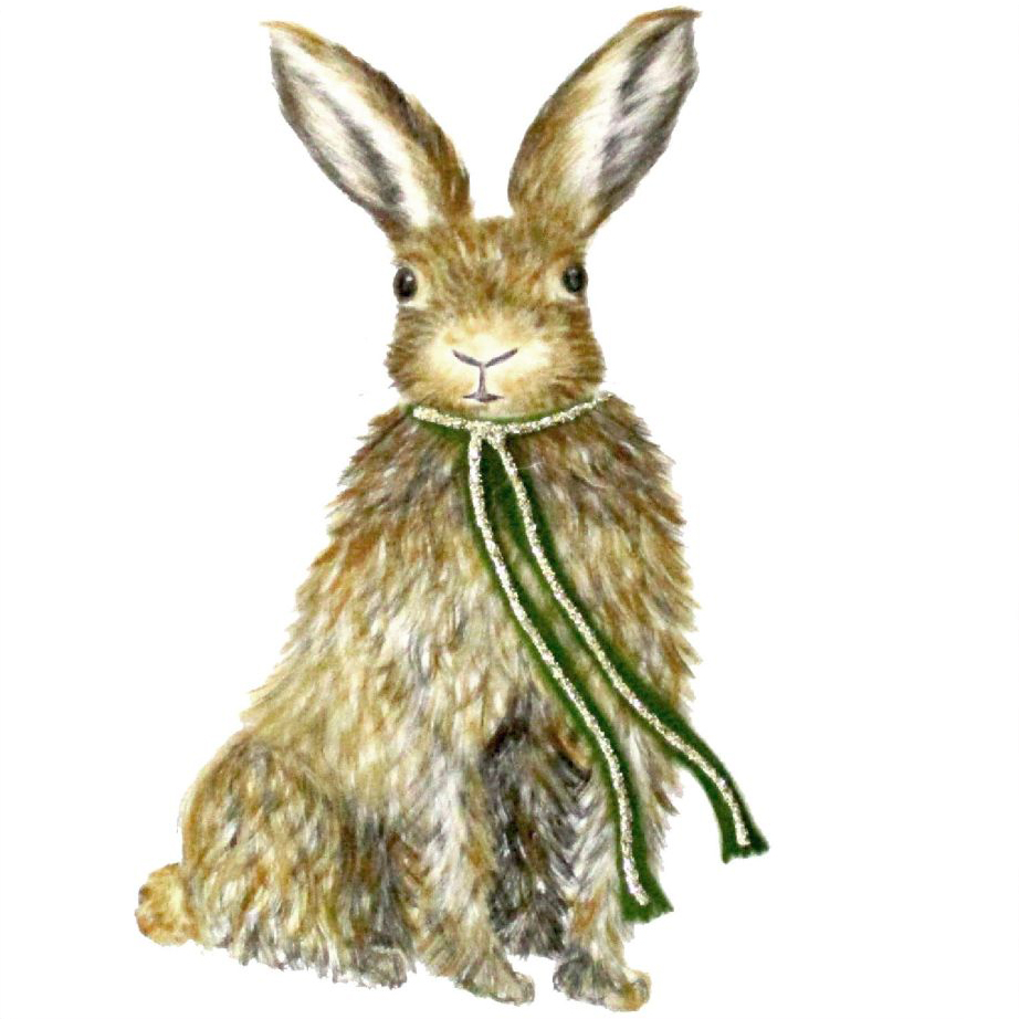 Hare in Scarf Greeting Card
