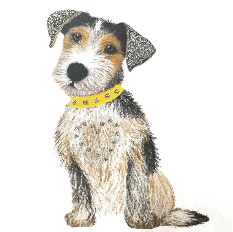Terrier Pup Greeting Card