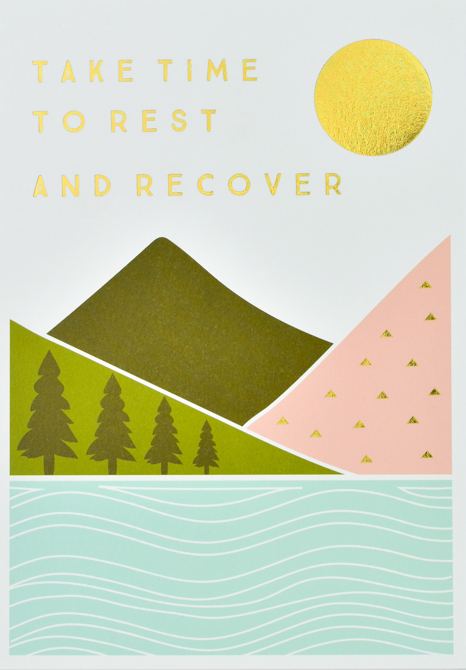 Rest and Recover Get Well Soon Card