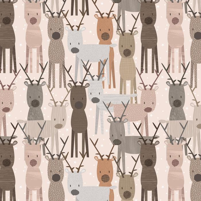 Reindeer Christmas Wrapping Paper 2 Sheets