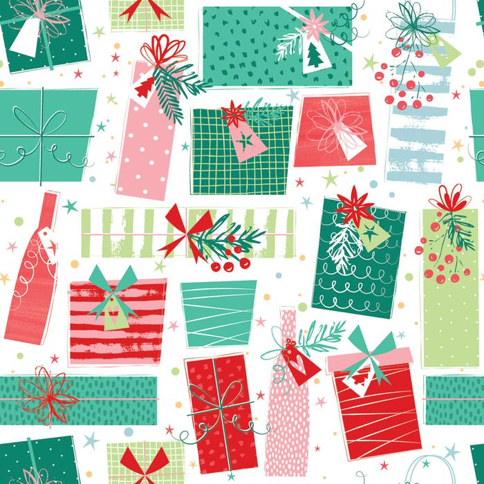Present Boxes Christmas Wrapping Paper 2 Sheets