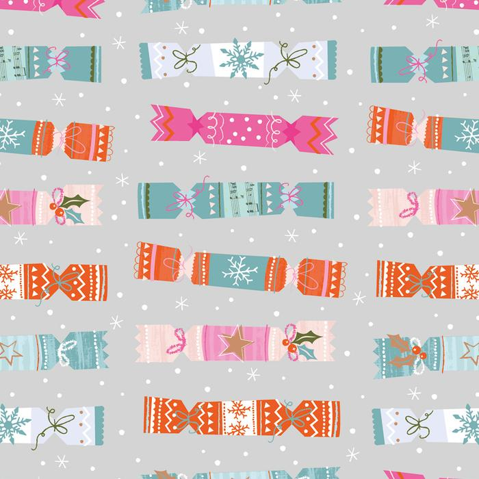 Colourful Crackers Christmas Wrapping Paper 2 Sheets
