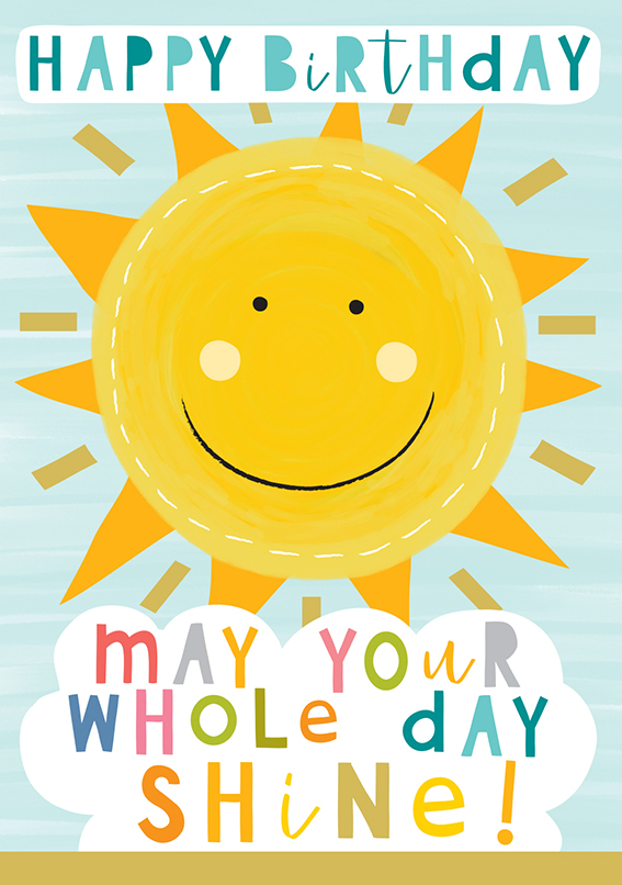 May Your Day Shine Birthday Card