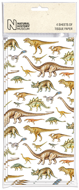 Dinosaurs Tissue Paper 4 Sheets