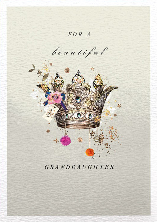 Crown Granddaughter Birthday Card
