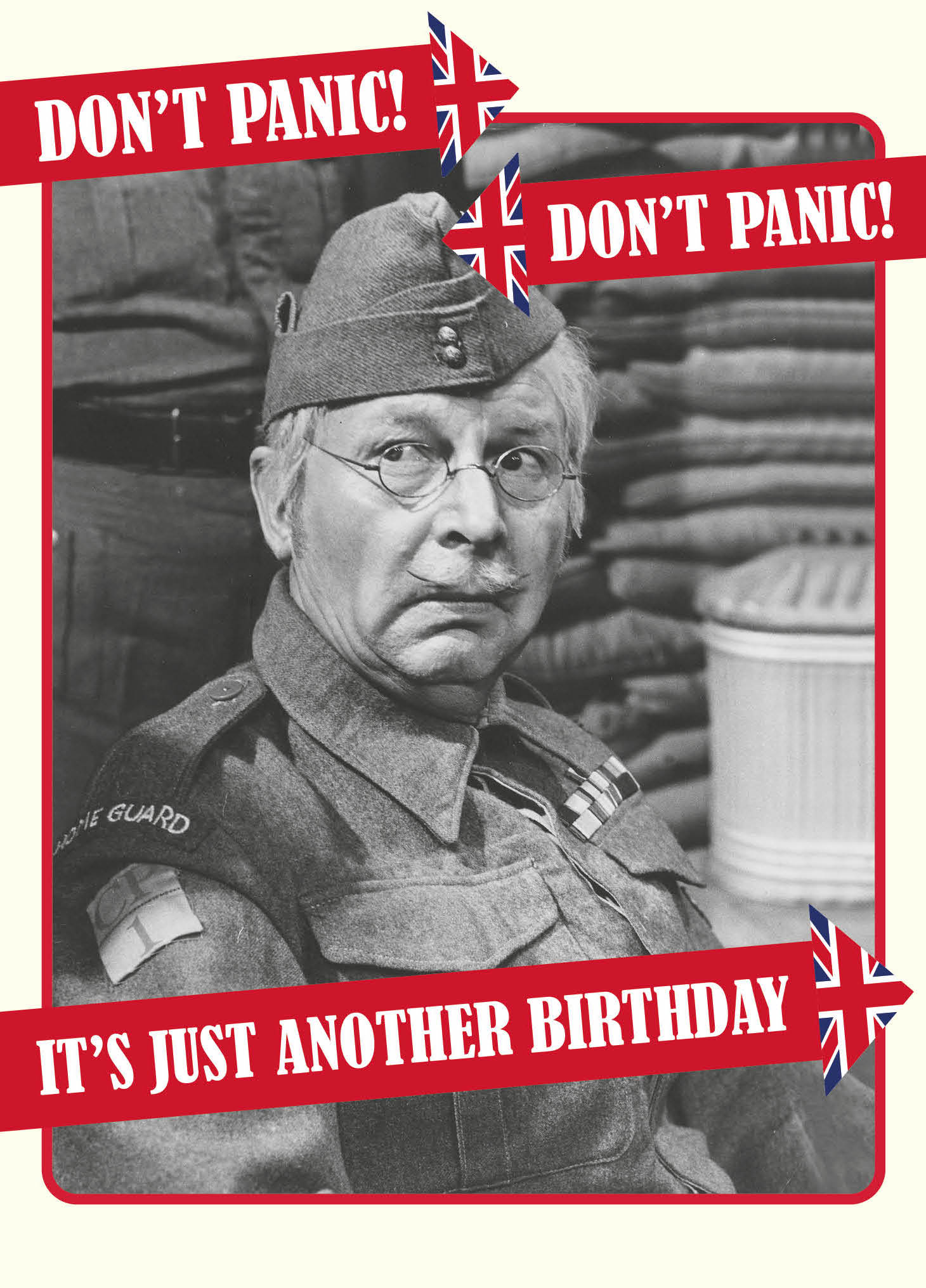 Don't Panic Birthday Card