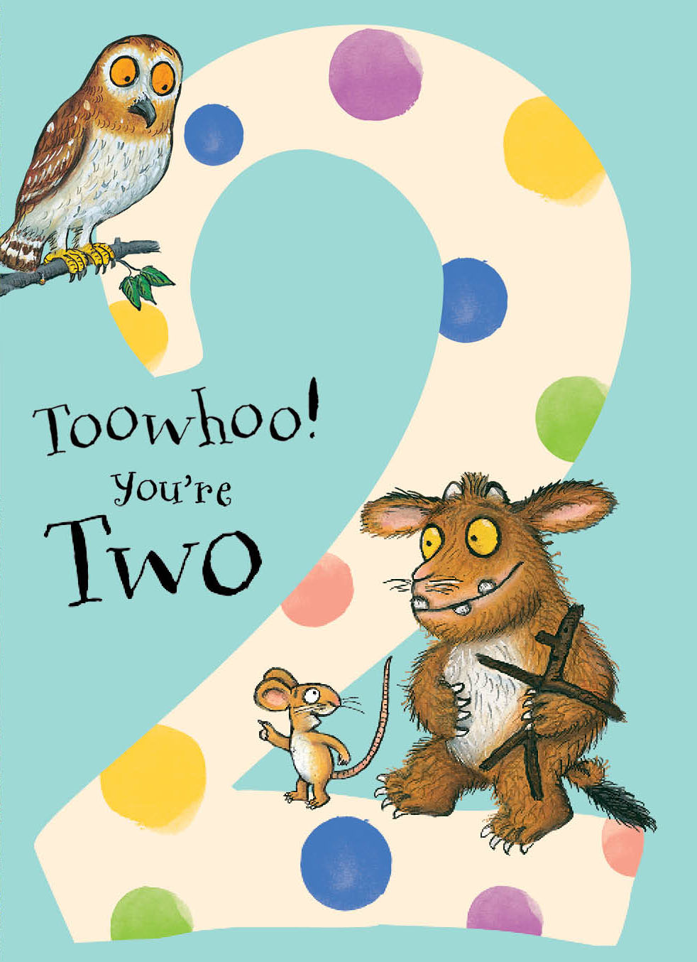 Gruffalo 2nd Birthday Card