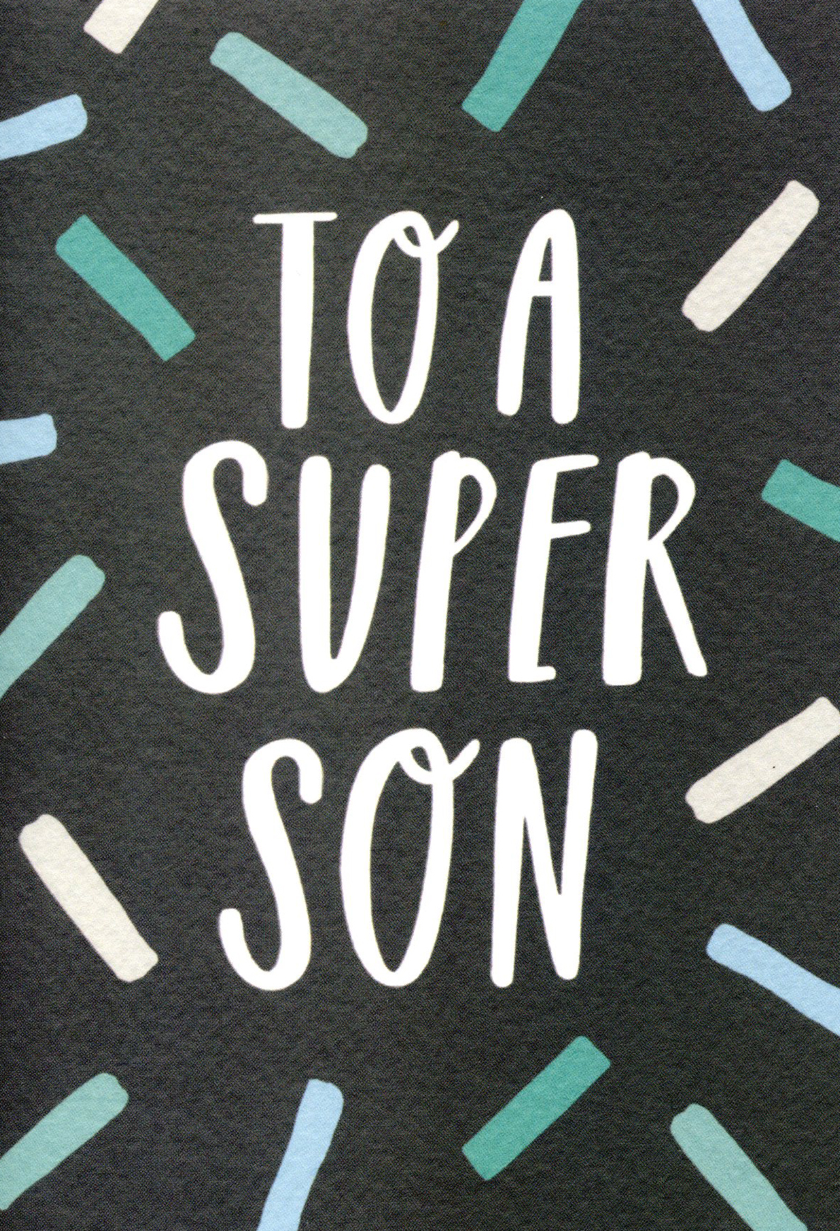To a Super Son Birthday Card