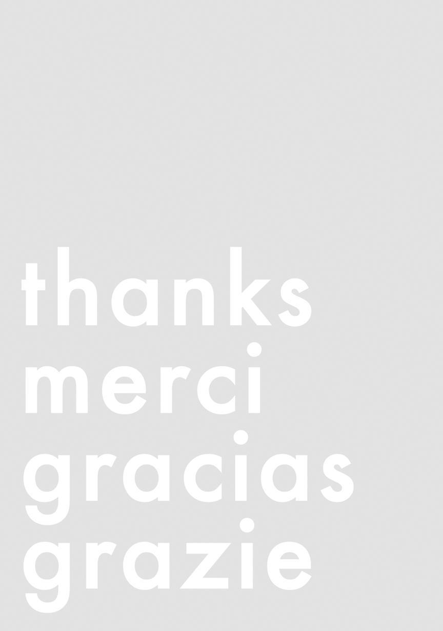 Thanks, Merci, Gracias, Grazie Greeting Card