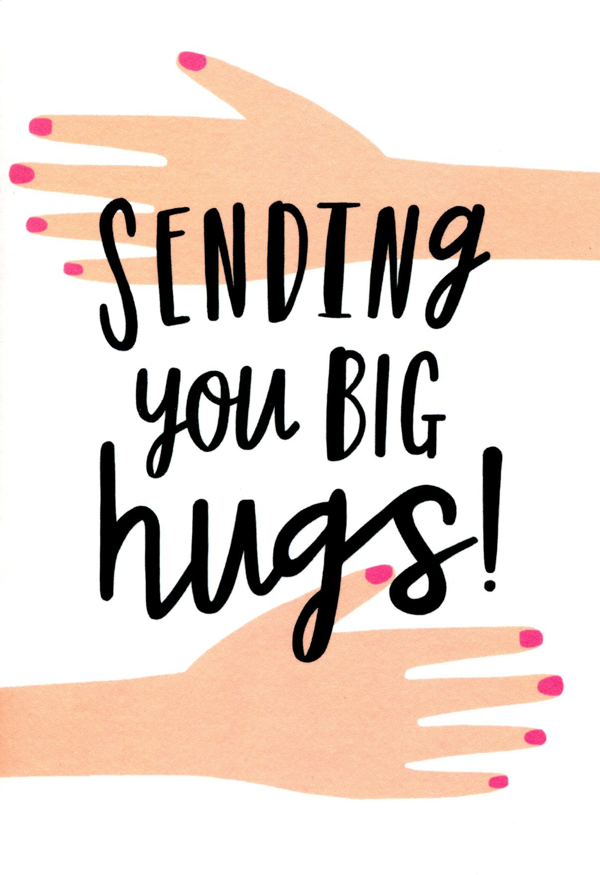 Sending You Hugs Thinking of You Card
