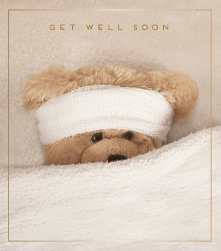 Bear Get Well Soon Card