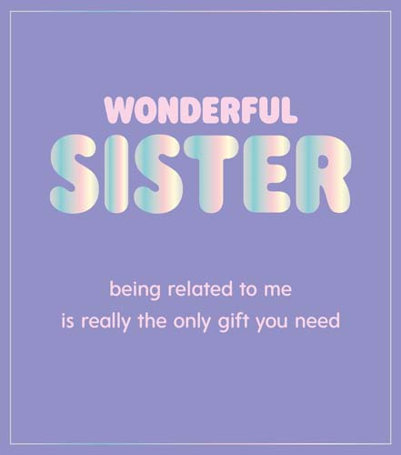 Gift Sister Birthday Card