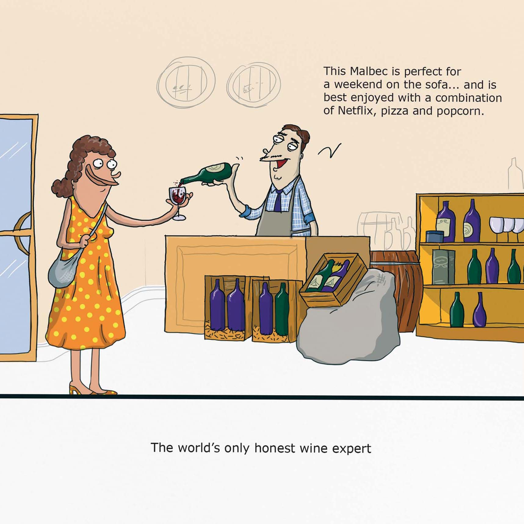 Wine Expert Greeting Card