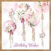Butterfly Balloons Birthday Card