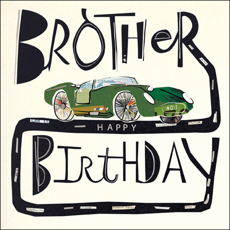 Car Brother Birthday Card