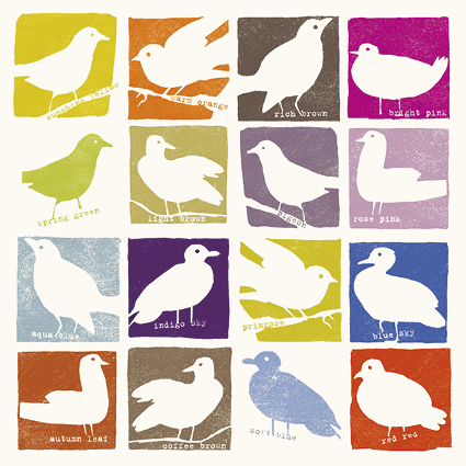 Colourful Birds Greeting Card