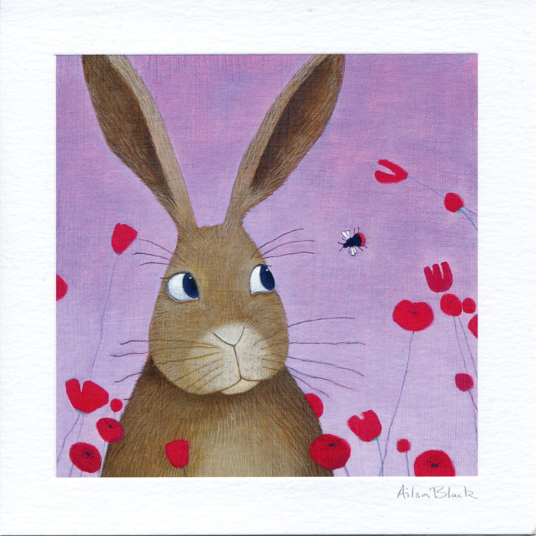 Bunny and the Bee Greeting Card