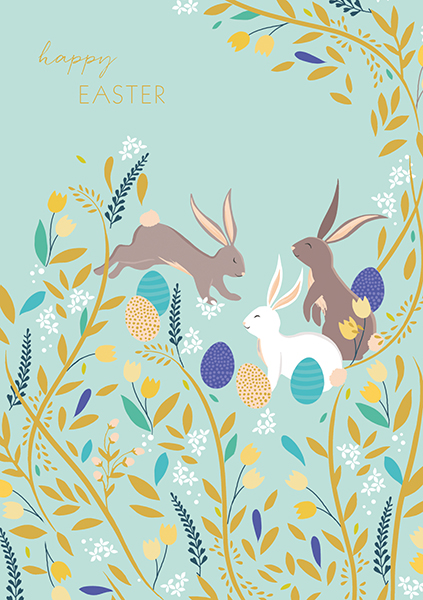 Jumping Bunny Easter Card