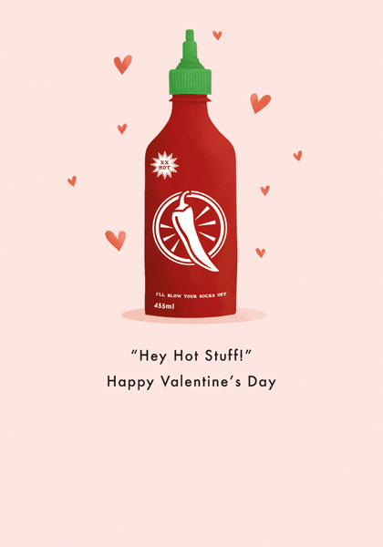 Hot Stuff Valentine's Day Card