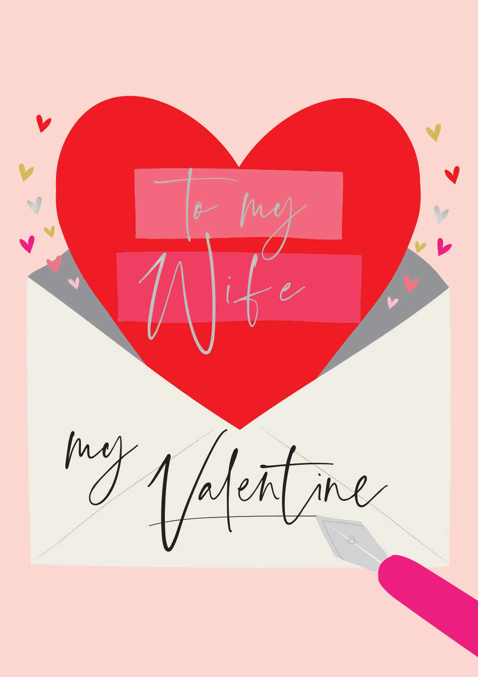 Letter Wife Valentine's Day Card