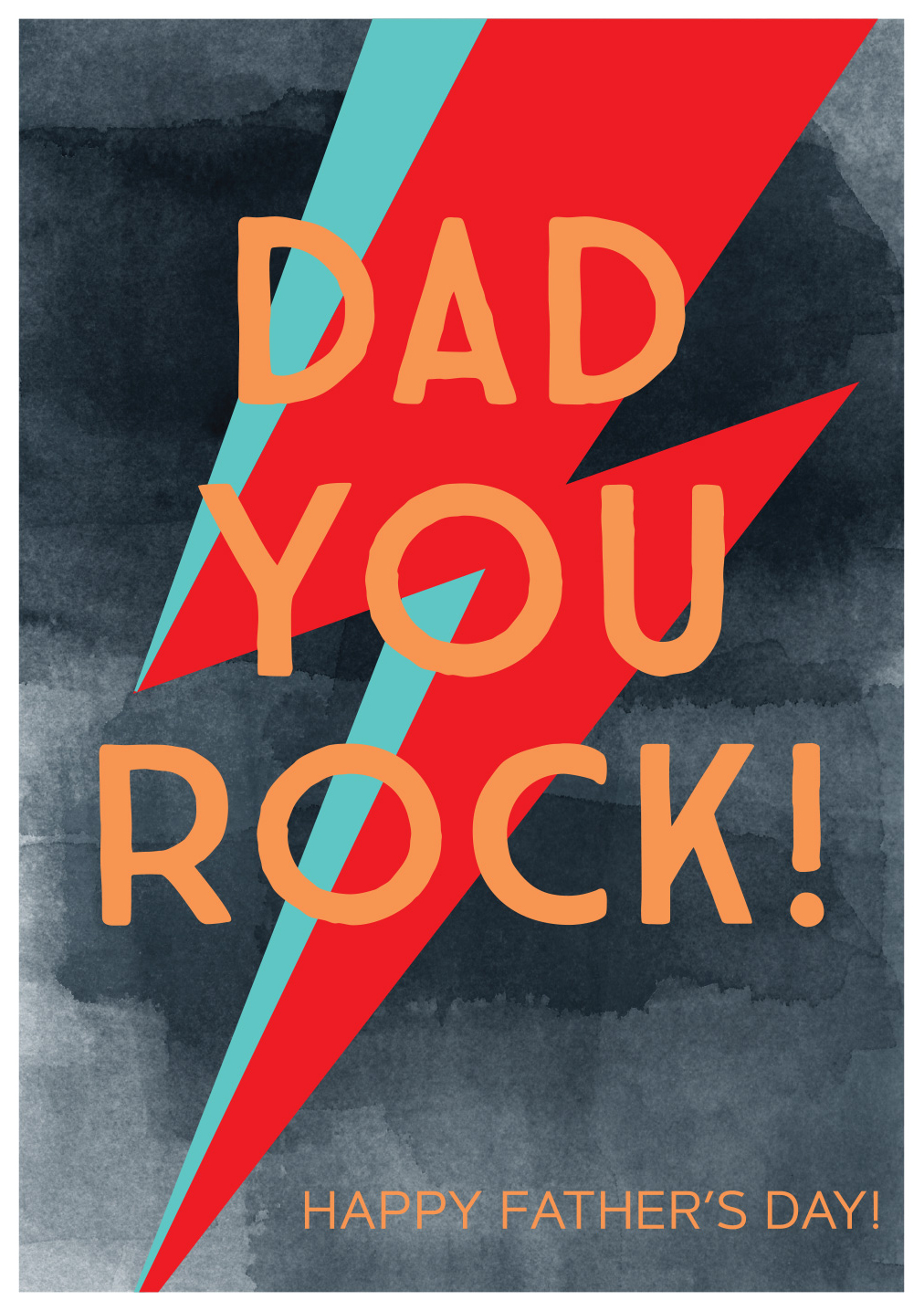 You Rock Father's Day Card