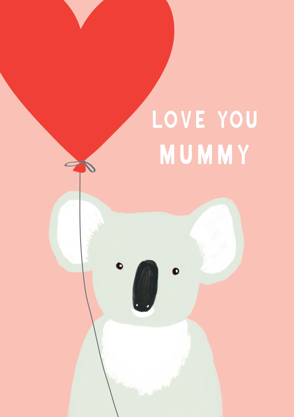 Koala Mother's Day Card