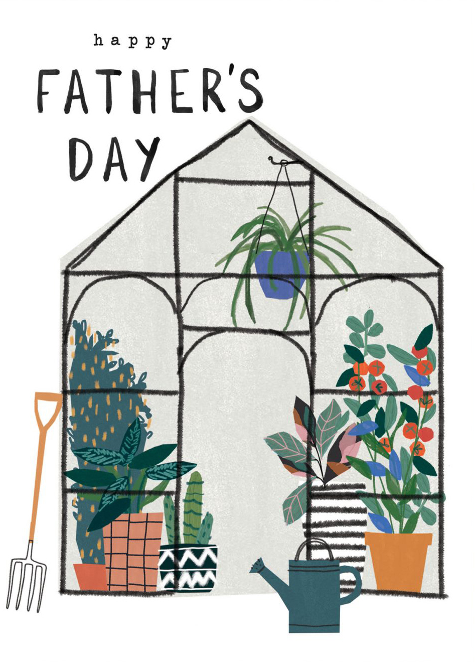 Green House Father's Day Card