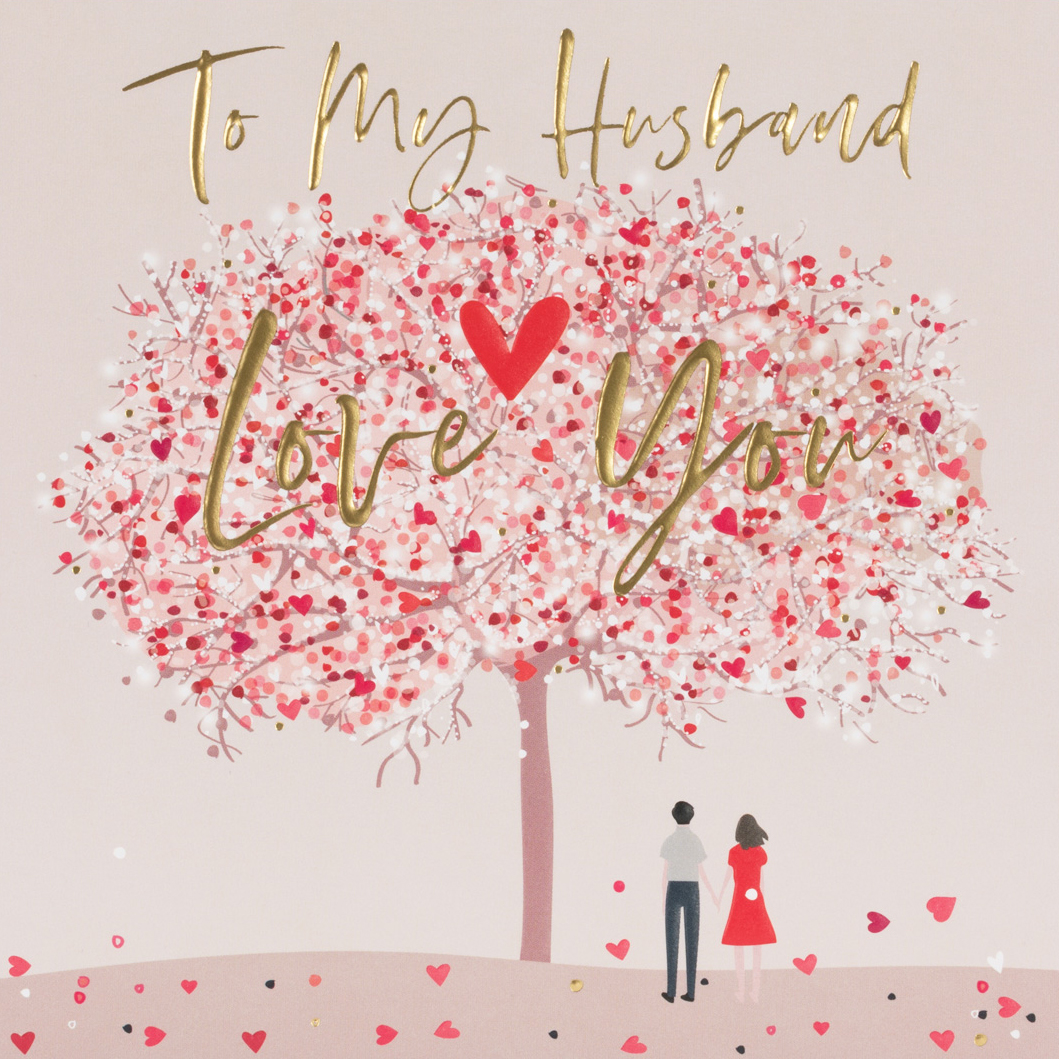 Cherry Blossom Husband Valentines Day Card