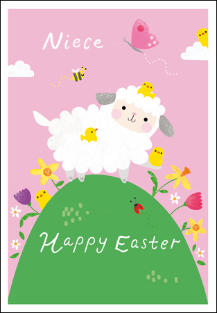 Little Lamb Niece Easter Card