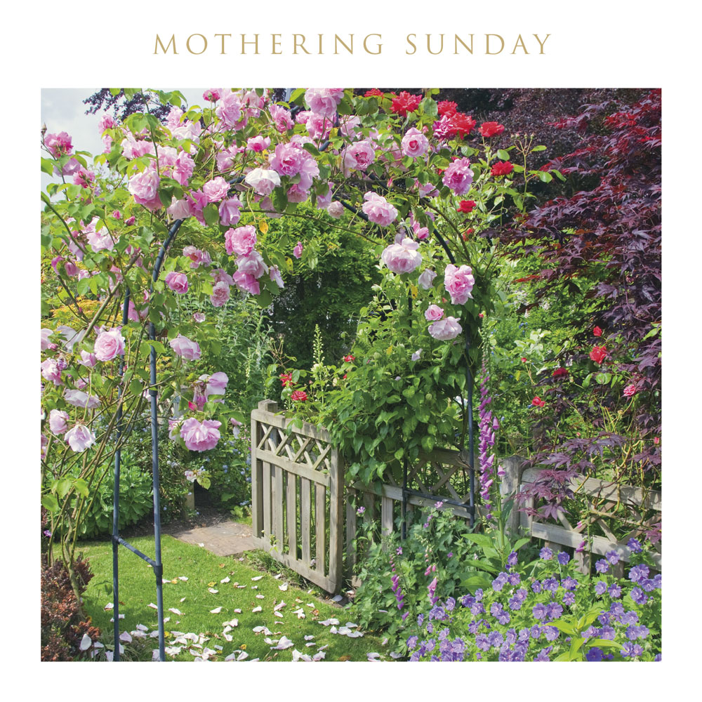 Floral Garden Arch Mothering Sunday Card