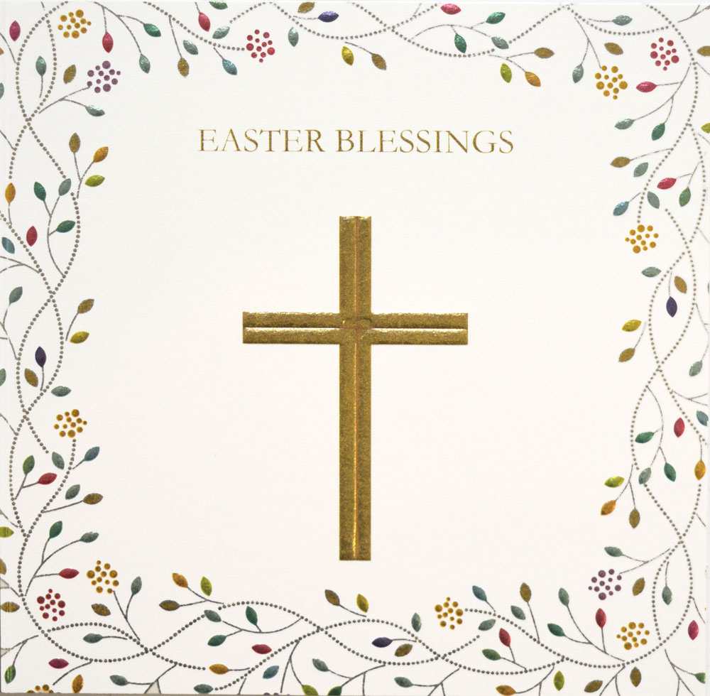 Golden Blessings Easter Card