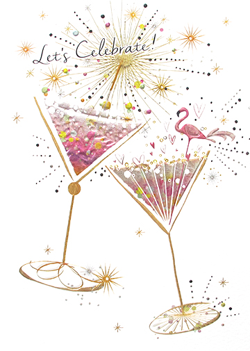 Sparkle Drinks Birthday Card