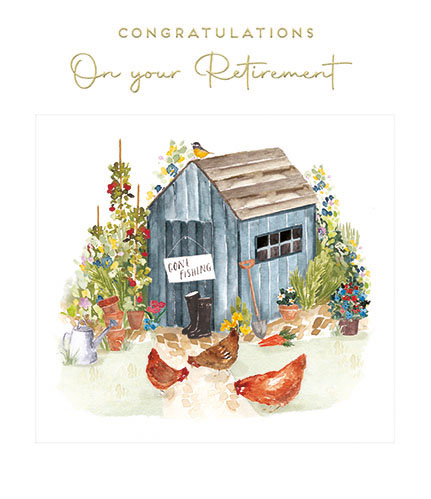 Garden Shed Retirement Card