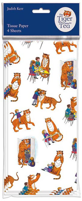 The Tiger Who Came To Tea Tissue Paper 4 sheets