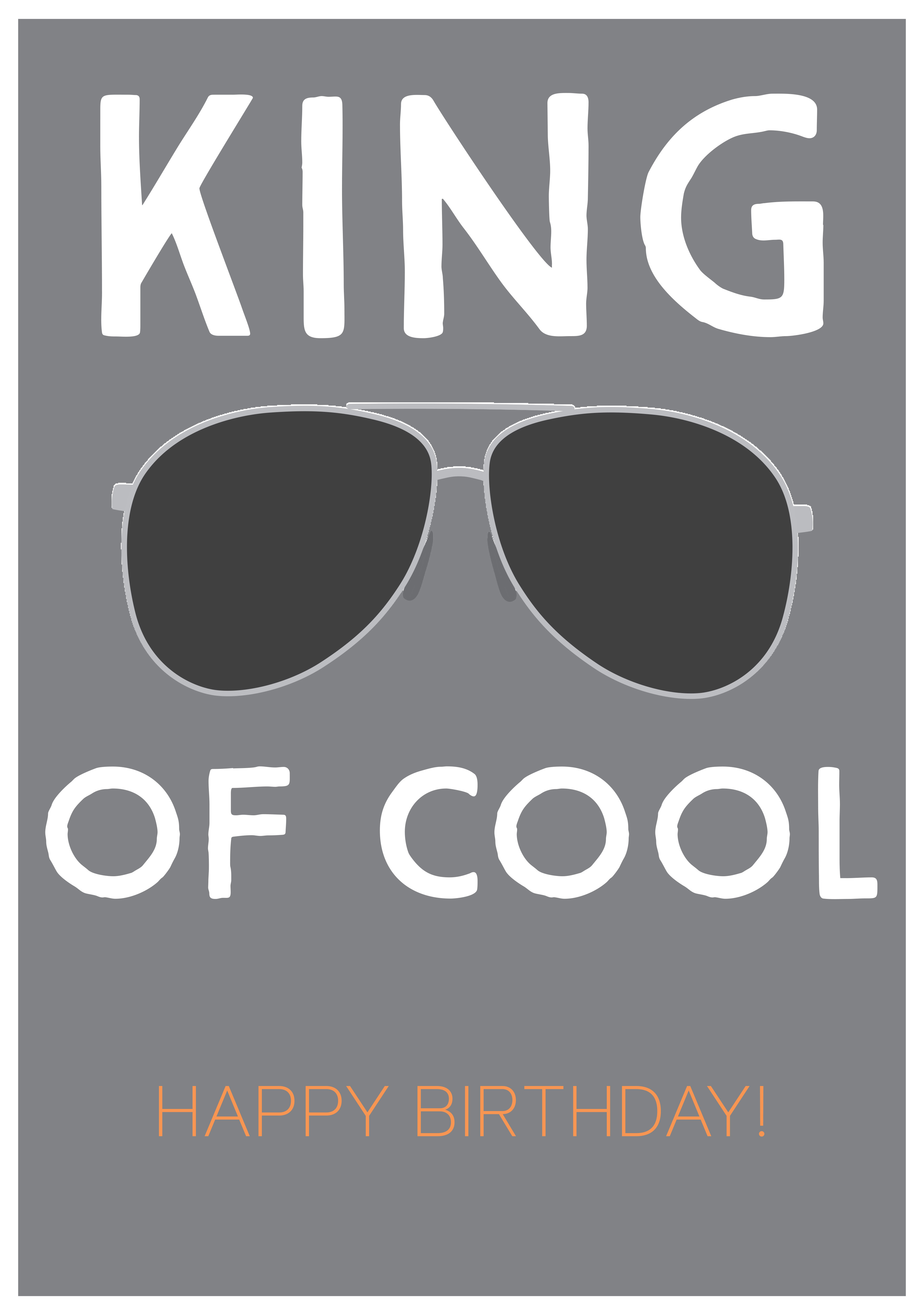 King of Cool Birthday Card