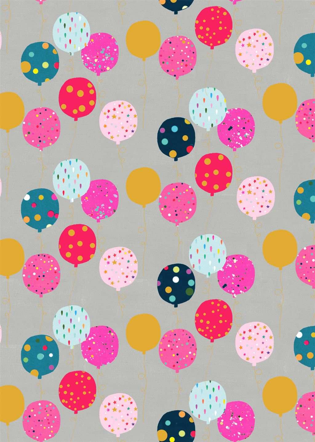Pink Balloons Wrapping Paper