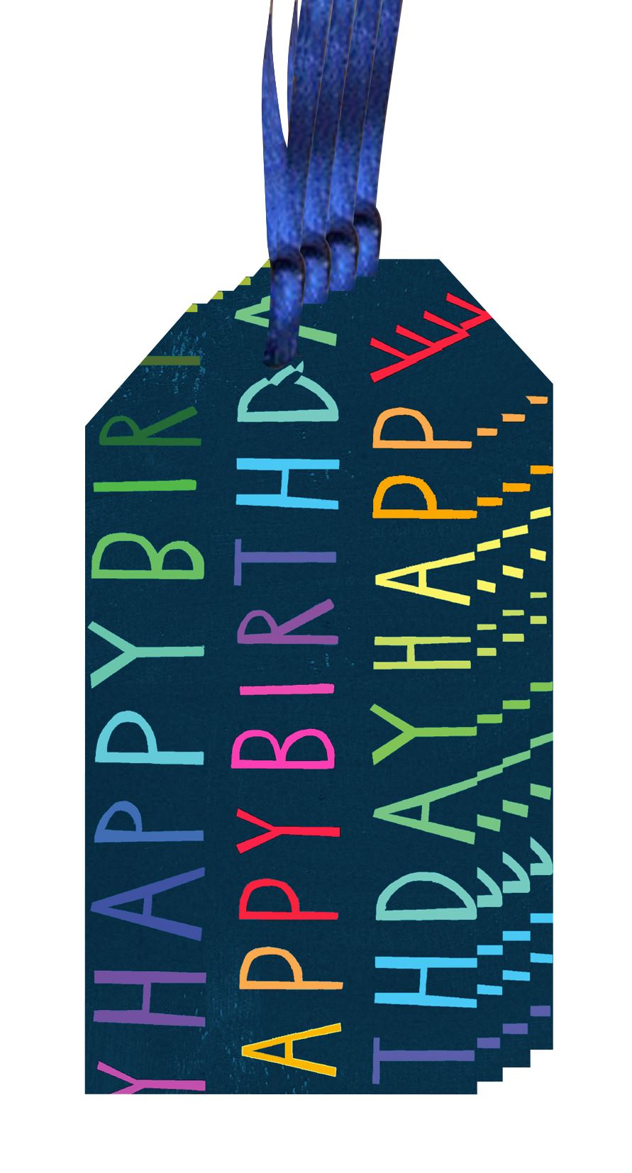 Rainbow Blue Happy Birthday Gift Tags (4)