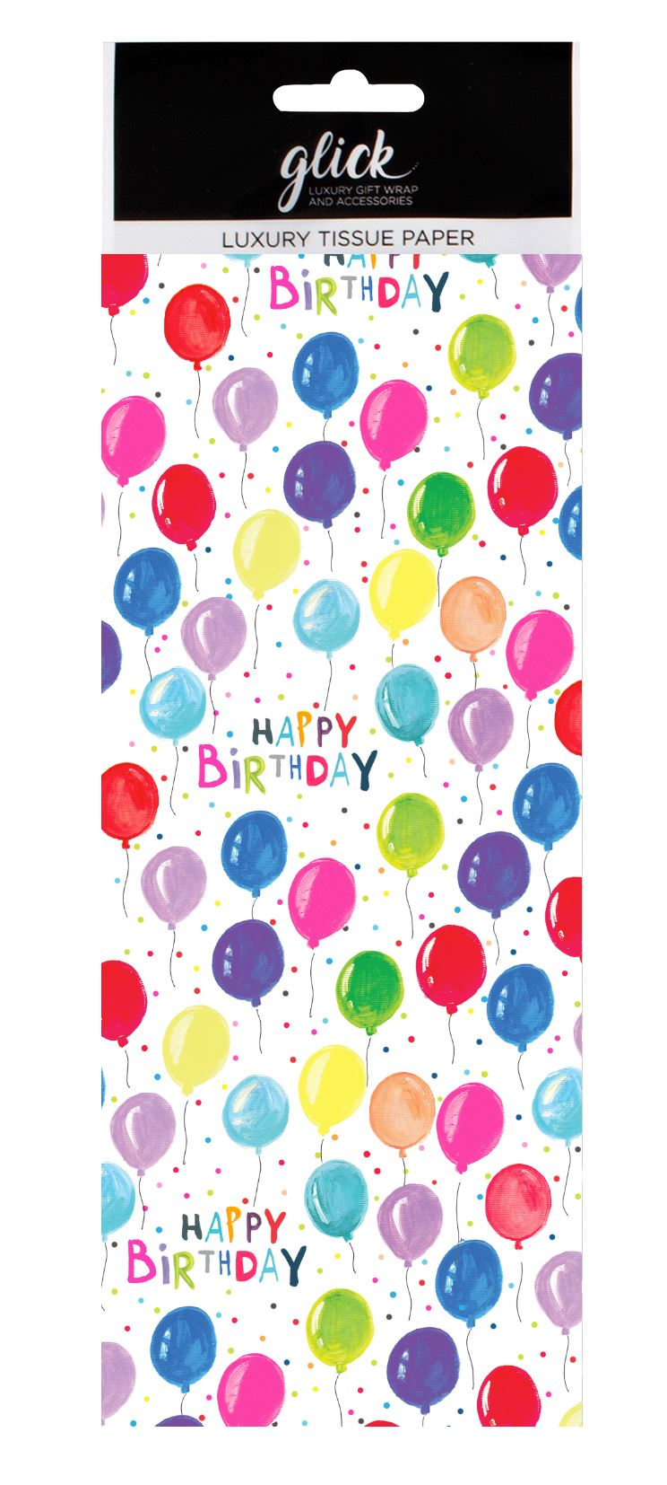 Neon Balloons Tissue Paper 4 Sheets