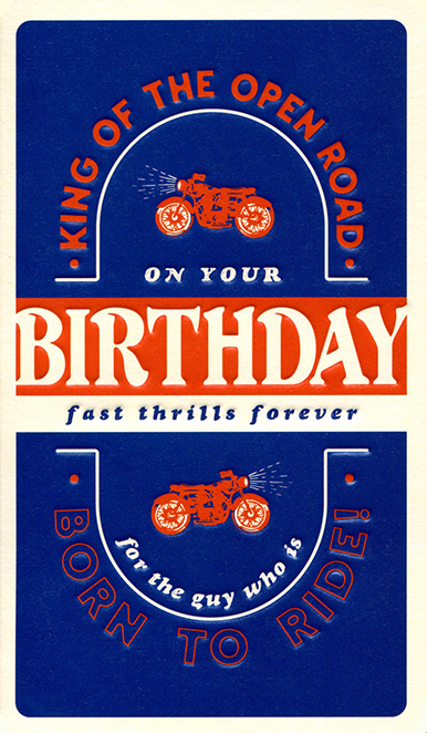 Fast Thrills Forever Birthday Card