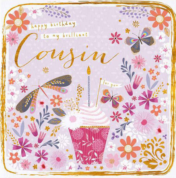 Cupcake Cousin Birthday Card