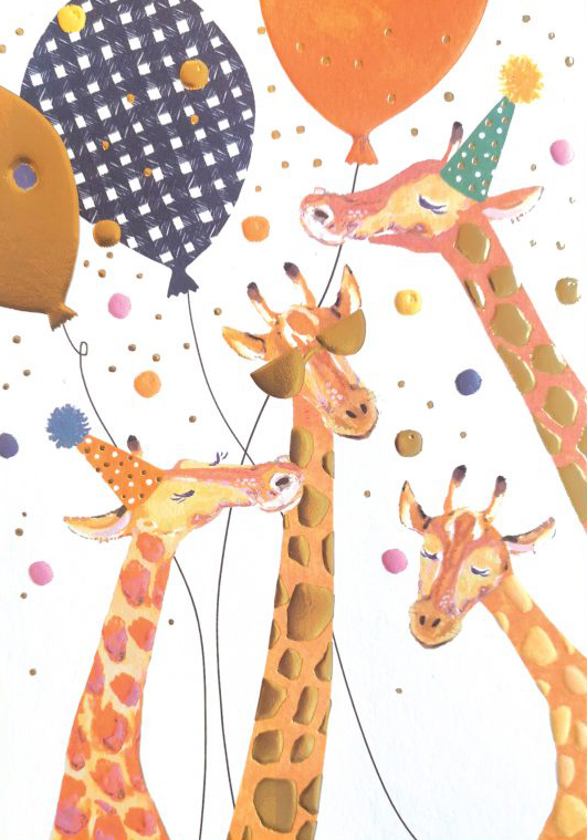 Party Giraffes Birthday Card