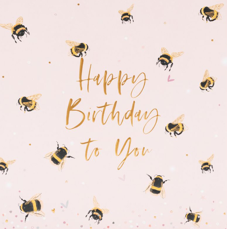 Bumble Bees Birthday Card
