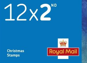 2nd Class UK Christmas Stamps (book of 12 self adhesive)