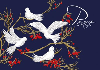 Peace Personalised Christmas Card