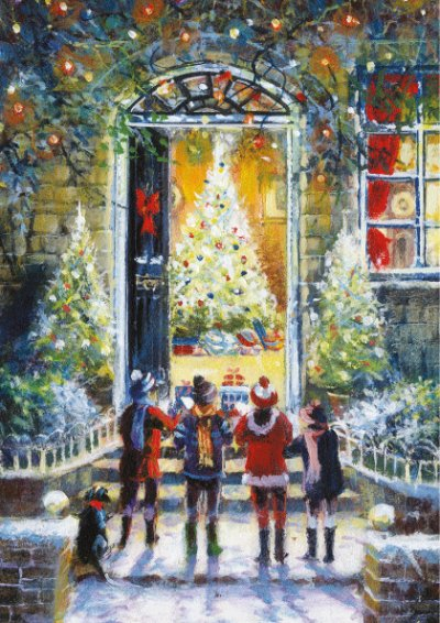 Christmas Carollers Personalised Christmas Card